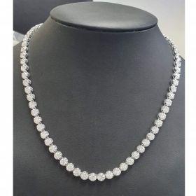 diamond tennis neckless with 14k gold