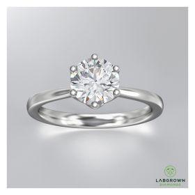 0.35 CARAT SIX PRONG SOLITAIRE DIAMOND RING