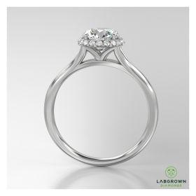 DESIGNER HALO SET DIAMOND ENGAGMENT RING
